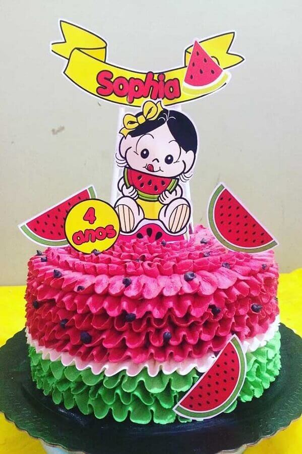 ideia de bolo decorado para festa da magali Foto Webcomunica
