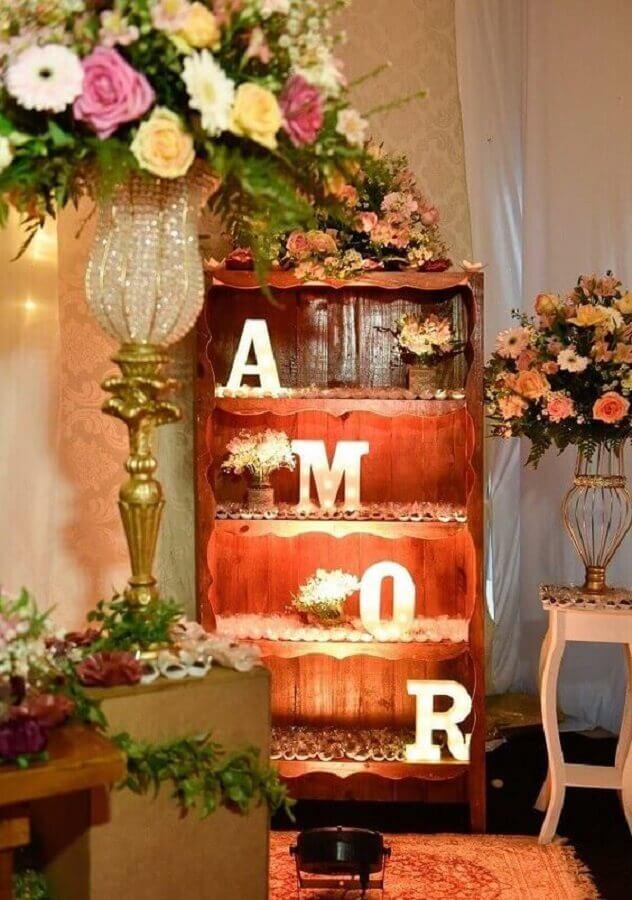 ideia de decoração bodas de cristal Foto Pinterest
