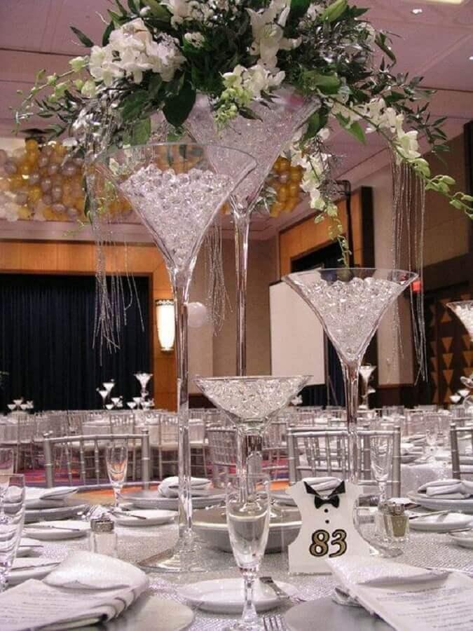 ideia de decoração para festa bodas de cristal Foto Party Mill