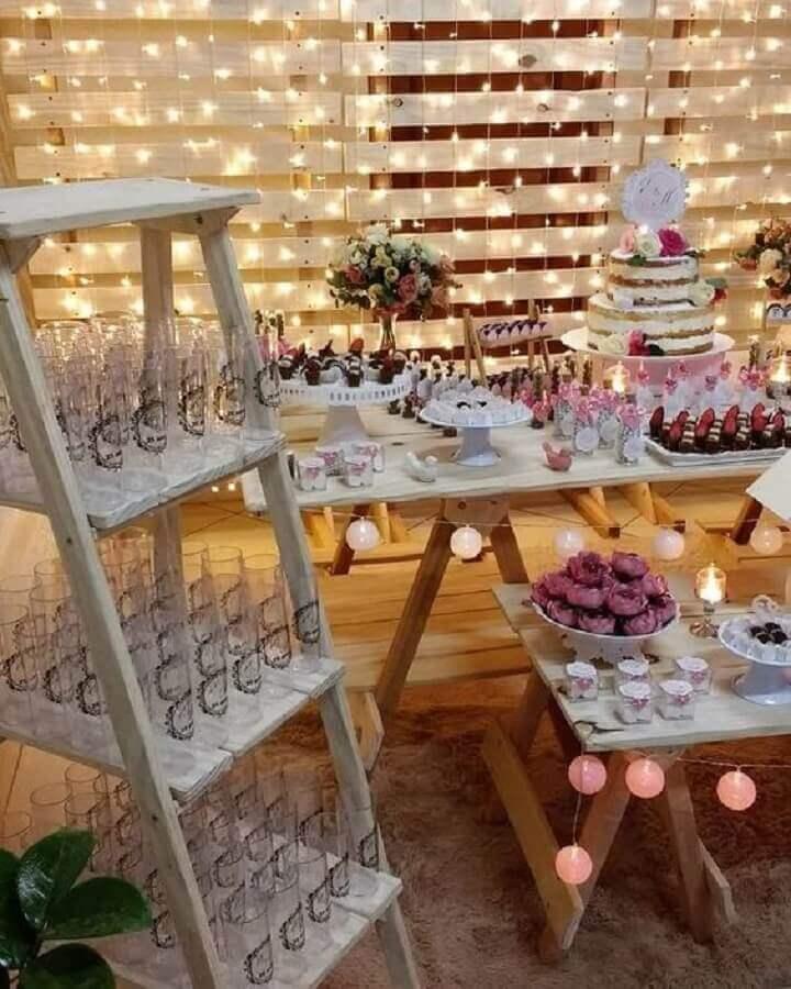 ideia de decoração para festa bodas de cristal simples Foto Pinterest