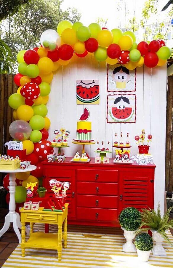 idea of decoration for magali birthday party table Foto Pinterest