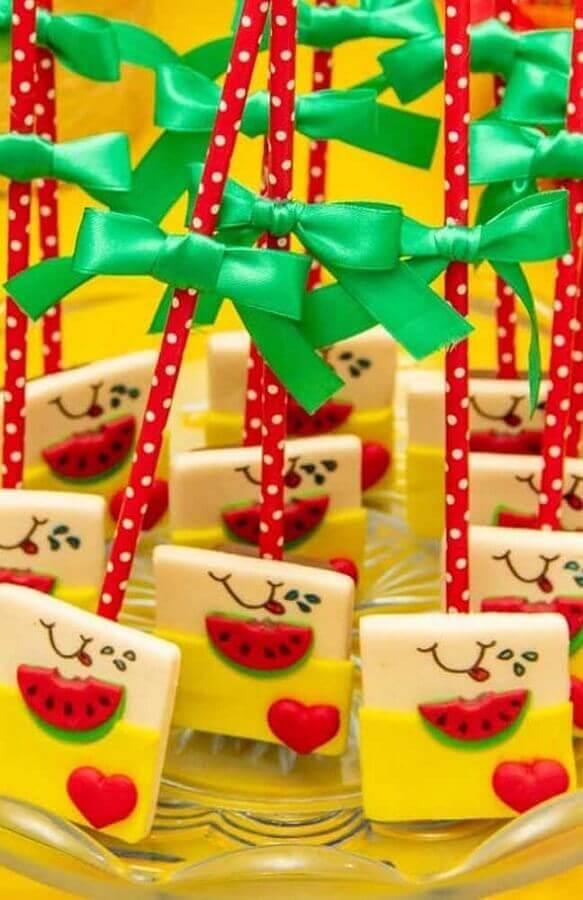 ideia de doces personalizado para festa infantil da magali Foto Webcomunica