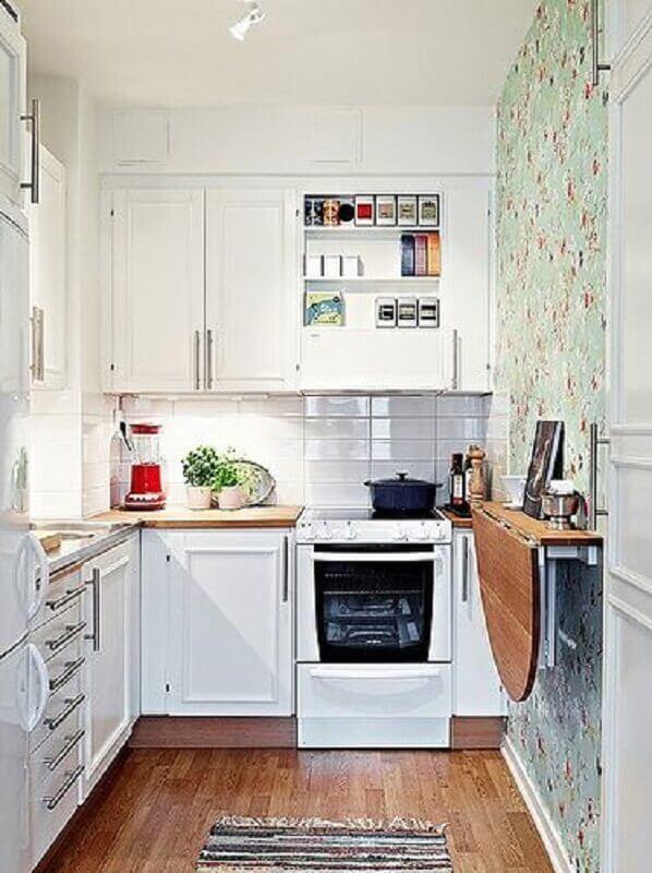 ideias de mesa dobrável para cozinha pequena Foto Pinterest