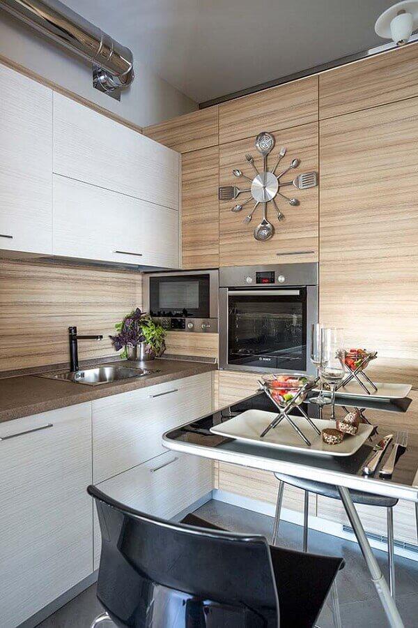 ideias de mesa para cozinha pequena Foto Eu Decoro