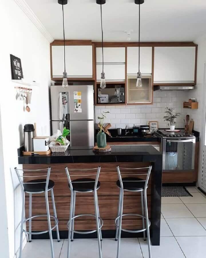 ideias para cozinha americana pequena e simples Foto Pinterest