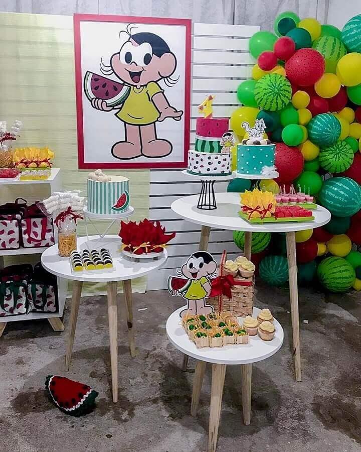 beautiful simple magali party decoration Photo Kamylla Pinheiro