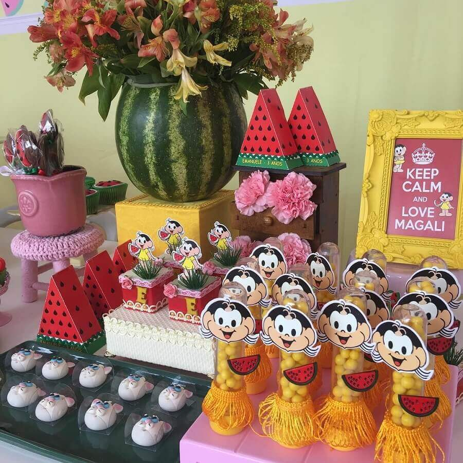 beautiful ideas for magali party decoration Foto Pinterest