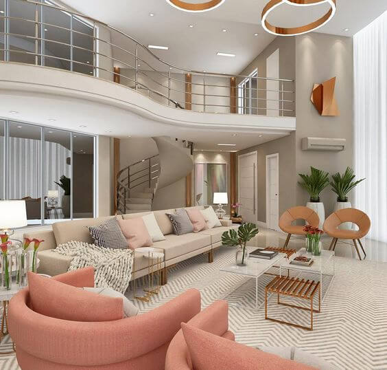 A decoração luxuosa é a maior característica de uma mansão