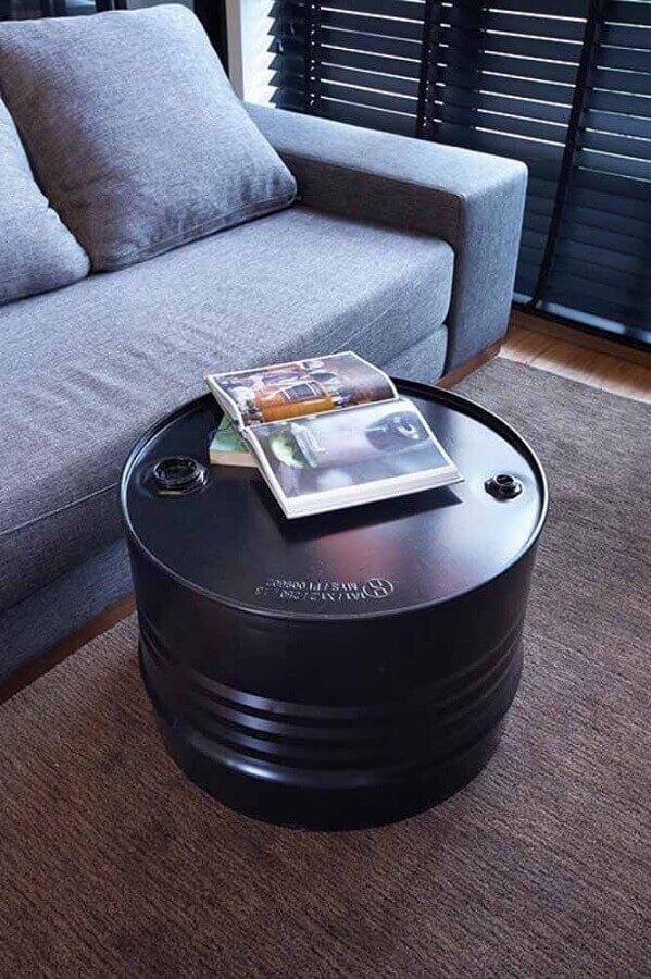 mesa de centro feita com tambor de decoração Foto Home & Decor