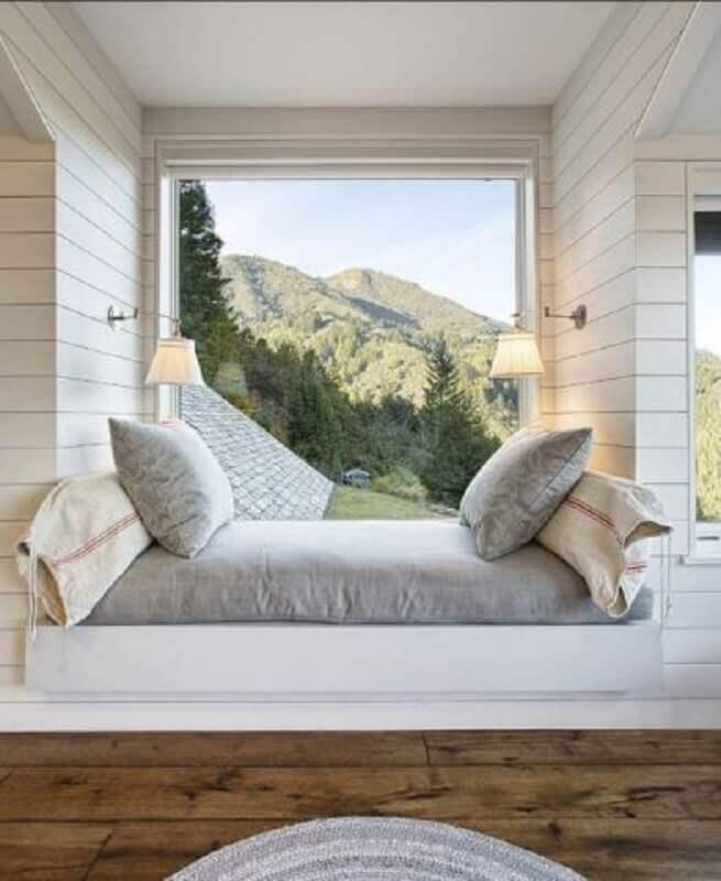 modelo clássico de abajur de parede para cantinho de descanso Foto Pinterest