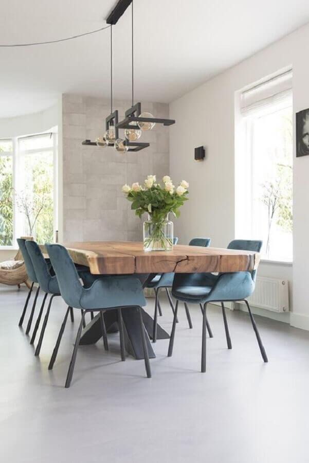 modelo de centro para mesa de jantar de madeira Foto Archello