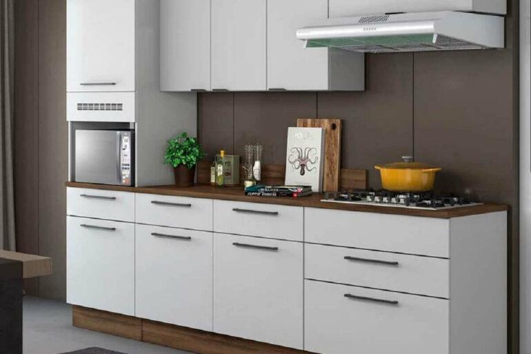 modelo de cozinha completa modulada branca Foto Pinterest