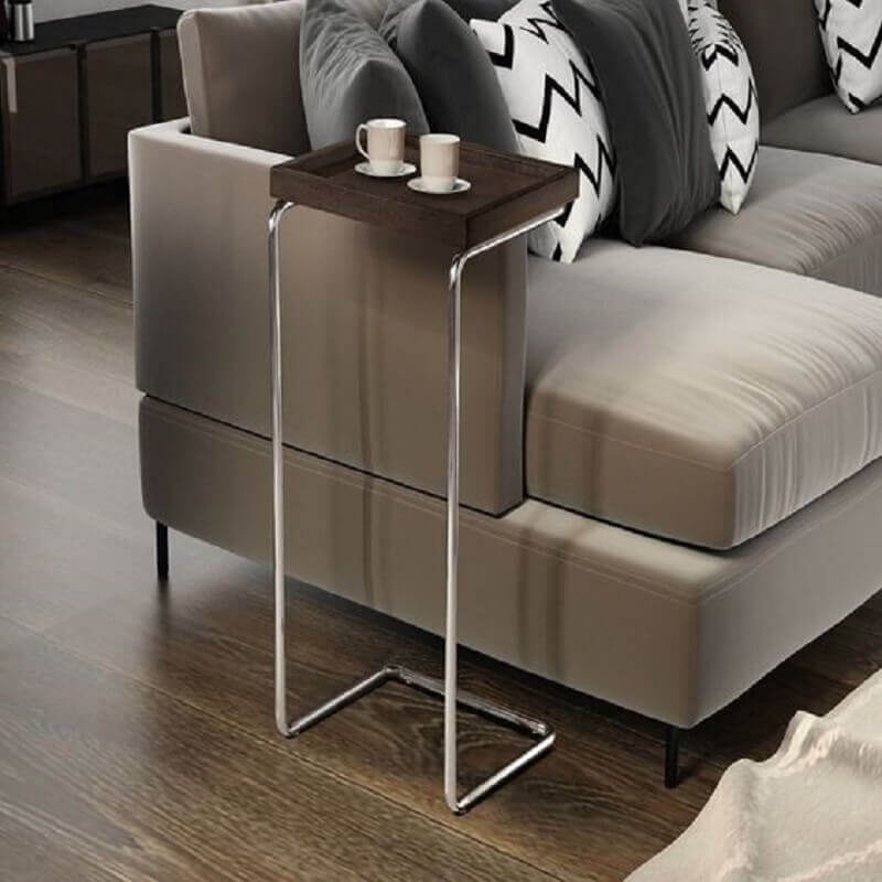 modelo de mesa de canto de sofá Foto Pinterest
