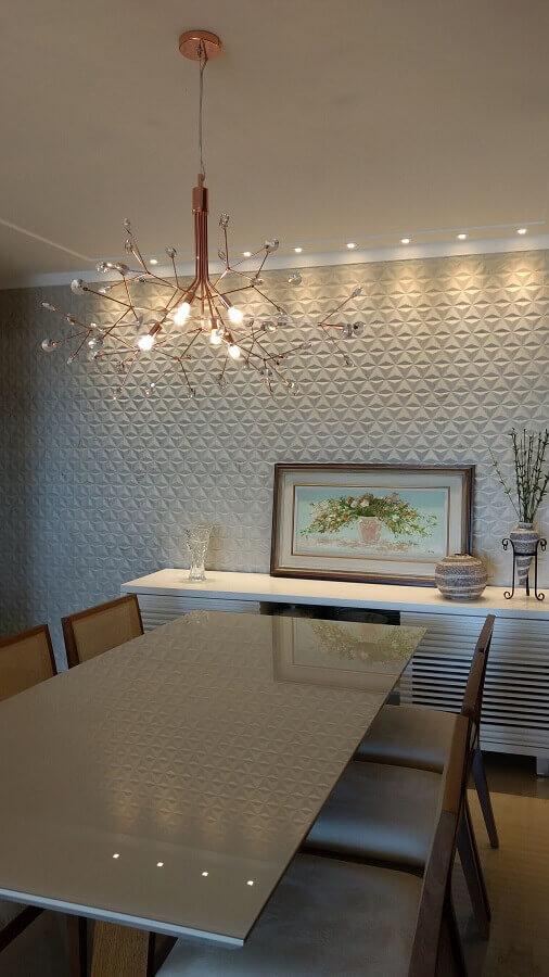 modelo moderno de lustre para mesa de jantar Foto Pinterest