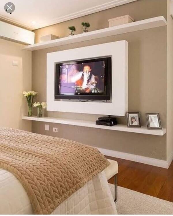 Painel para tv para quarto moderno
