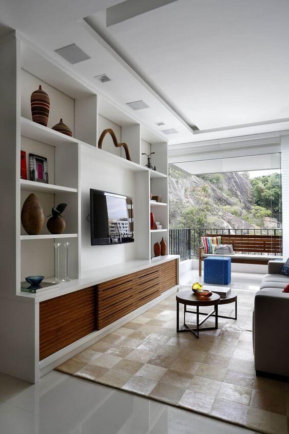 Painel para tv para sala grande e de luxo