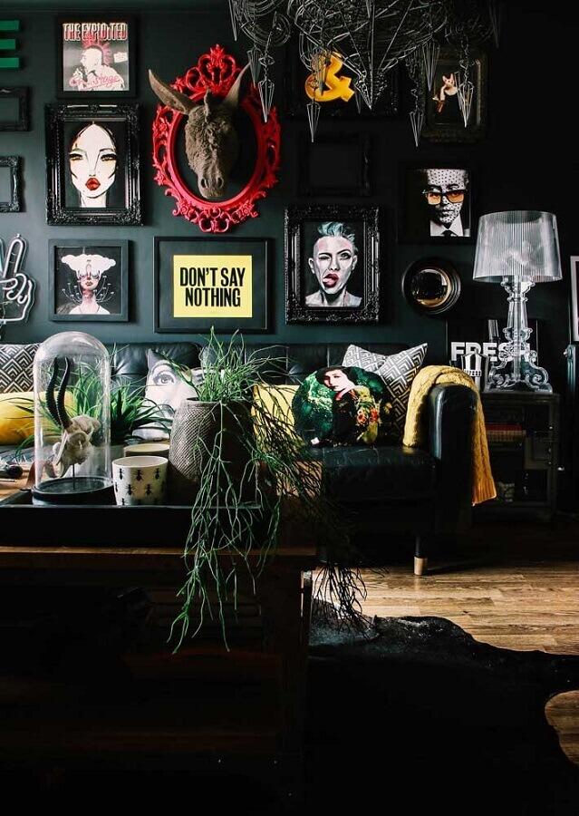quadros decorativos para sala preta Foto Behance