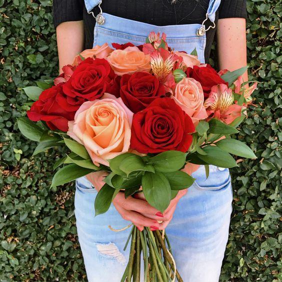 Rosas colombianas são lindas para decorar seu buquê