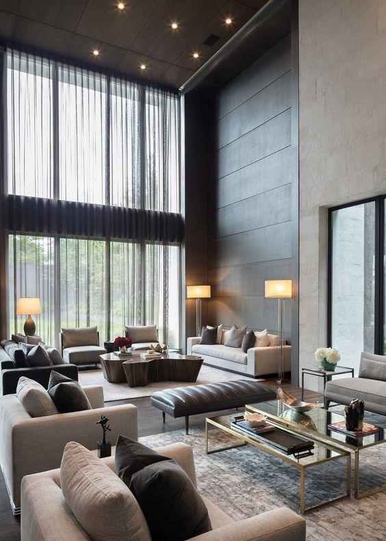 Sala na mansão de luxo