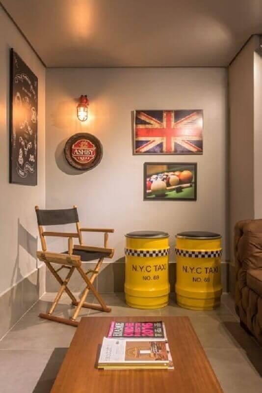 tambor para decoração de sala Foto Estela Netto