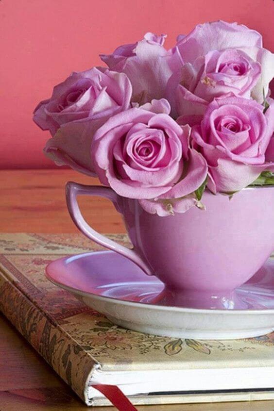 Flores rosa violeta