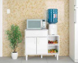 Decoração clean com armário multiuso para cozinha com fruteira e gaveta Foto Bora Mobiliar
