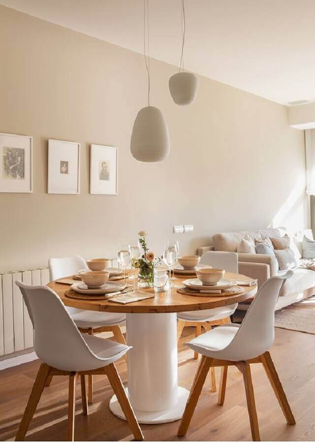 Decorated in neutral tones with round dining table 4 seater round-a Photo on Pinterest