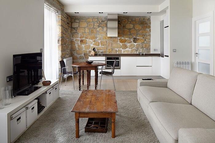 Fique atento quanto aos revestimento de parede e piso no momento de decorar um apartamento pequeno