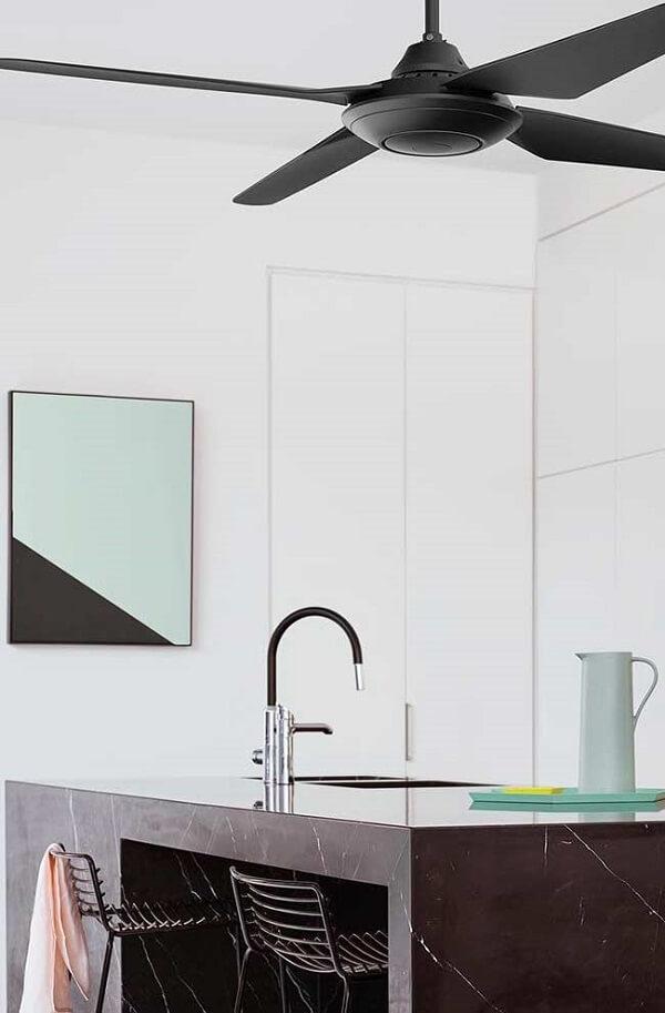 Modelo de quadro para decorar cozinha para aqueles que apreciam o estilo minimalista
