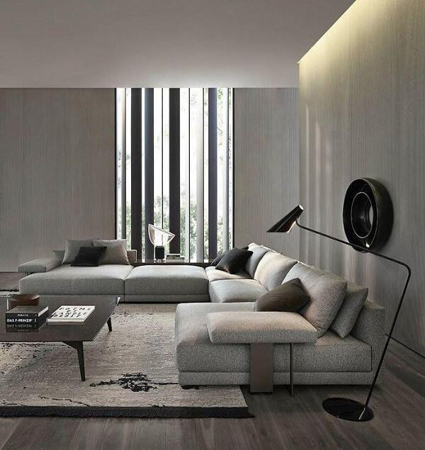O design do sofá de canto cinza faz toda diferença no ambiente