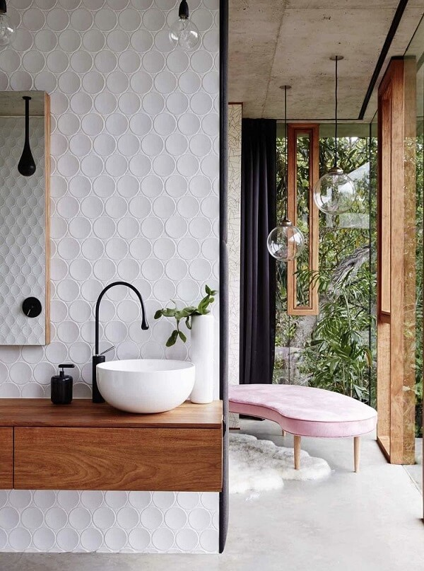 O revestimento 3D para banheiro de PVC apresenta um excelente custo benefício