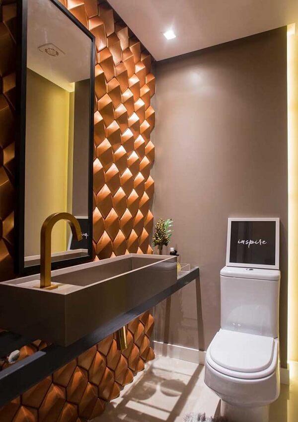 O revestimento em 3D para banheiro se destaca na decoração