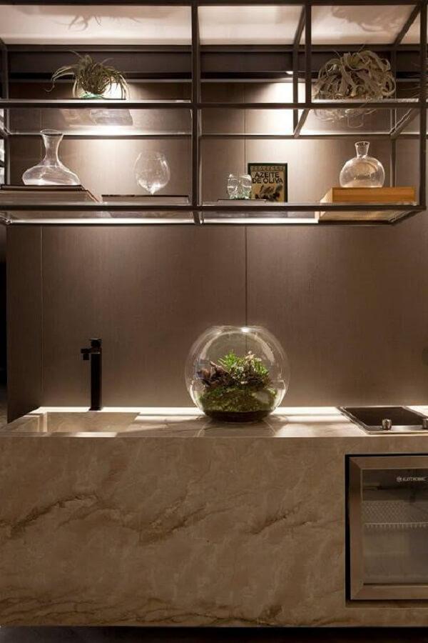 O terrário de suculentas na cozinha é capaz de transformar o ambiente