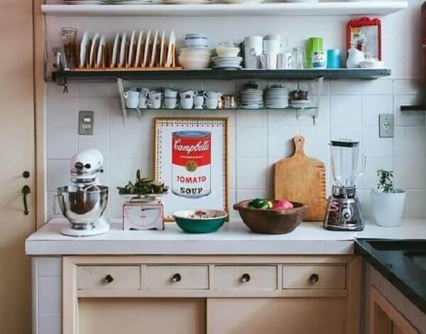 Quadro para decorar cozinha com imagem vintage