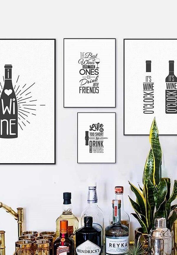 Quadros decorativos para cozinha para aqueles que apreciam vinho