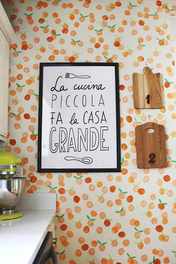 Quadros para cozinha com frases e motivos relacionados a comida