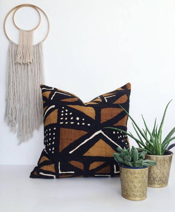 Almofada com estampa africana