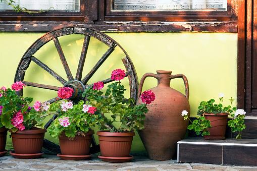ânfora decorativa para jardim