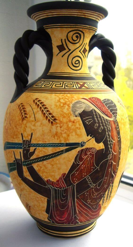 ânfora grega para decoração