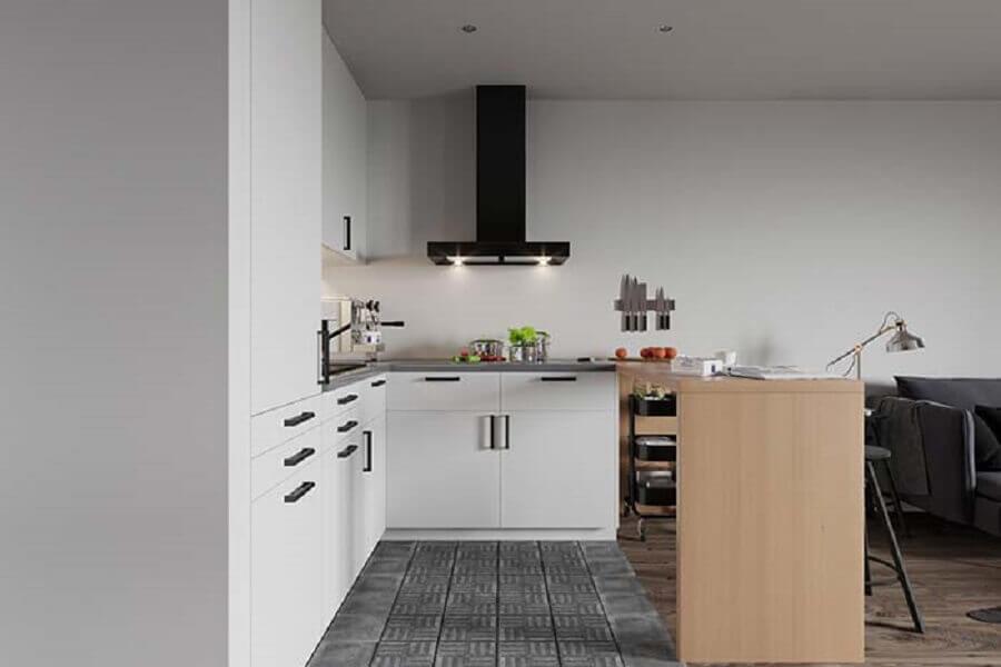 armário de cozinha branco Foto Planete-deco