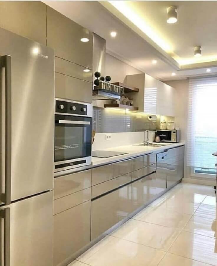 armário de cozinha planejado na cor nude Foto Pinterest