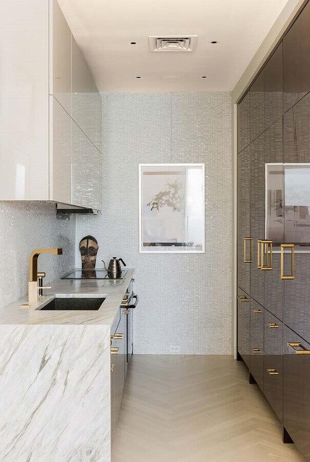 bancada pequena de mármore para cozinha planejada Foto Houzz