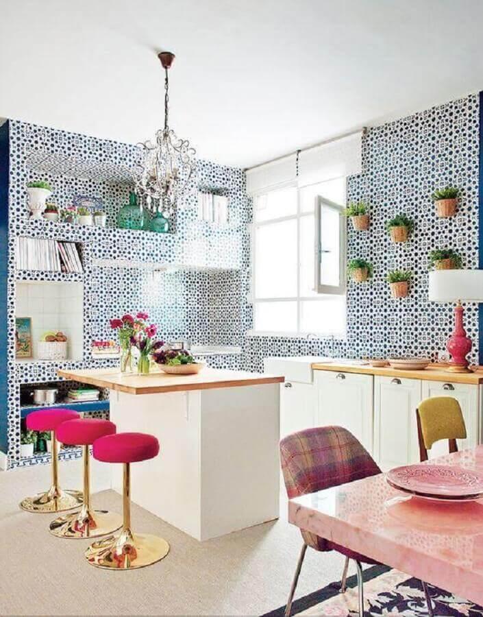 banquetas de cozinha na cor rosa pink Foto Architecture Art Designs