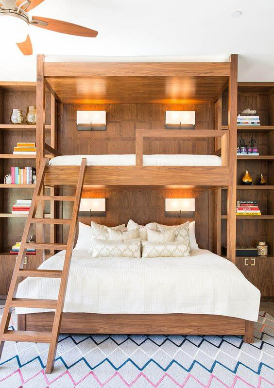 Beliche planejada com cama de casal