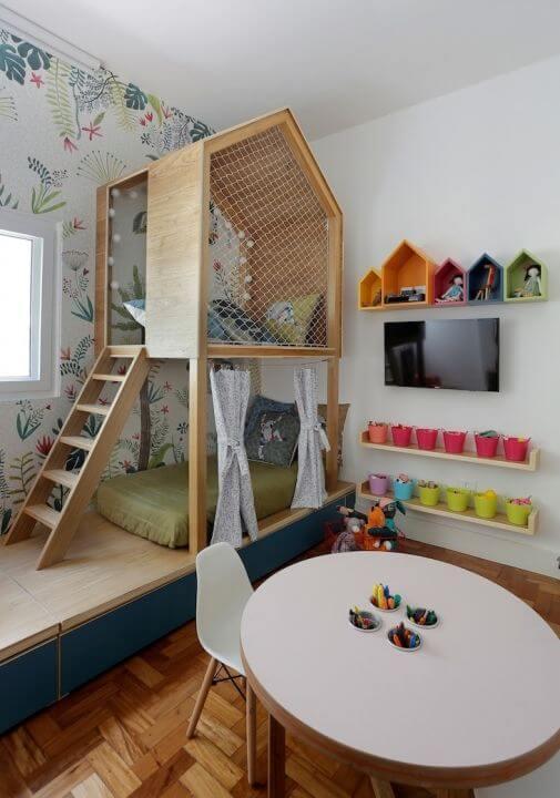Beliche planejada para quarto infantil