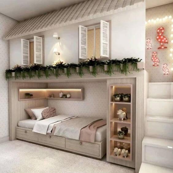 Beliche planejada com casinha