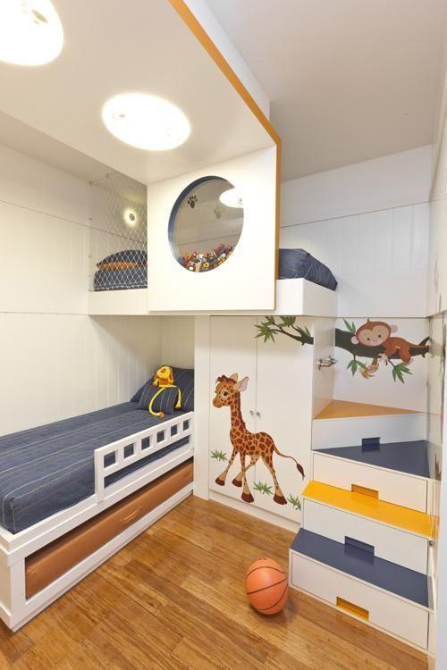 Beliche planejada infantil na temática safari