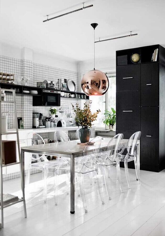 cadeira ghost transparente para mesa de cozinha Foto Home Fashion Trend