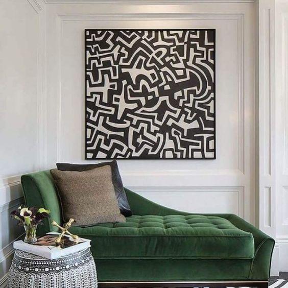 Sofá divã verde