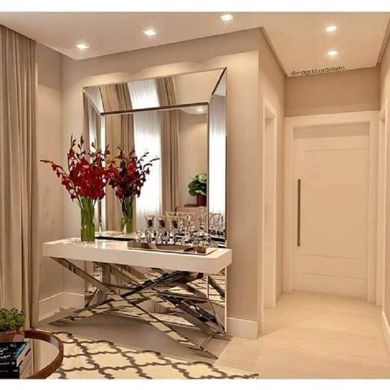 cor de parede nude para hall de entrada Foto Construindo Minha Casa Clean